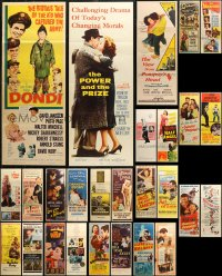 6t0955 LOT OF 27 FORMERLY FOLDED INSERTS 1940s-1970s great images from a variety of movies!