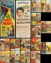 6t0952 LOT OF 30 FORMERLY FOLDED INSERTS 1950s great images from a variety of different movies!