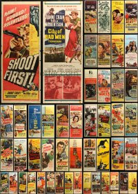 6t0951 LOT OF 61 FORMERLY FOLDED INSERTS 1940s-1970s great images from a variety of movies!