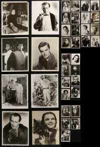 6t0820 LOT OF 37 MOSTLY HORROR 8X10 REPRO PHOTOS 1980s great portraits of top Hollywood stars!