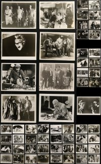 6t0810 LOT OF 89 MOSTLY HORROR 8X10 REPRO PHOTOS 1980s including many with stars in monster makeup!