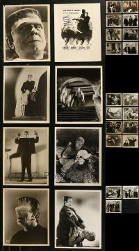 6t0801 LOT OF 27 UNIVERSAL MONSTER 8X10 RE-STRIKES OR REPRO PHOTOS 1960s Frankenstein & more!