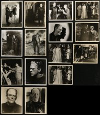 6t0833 LOT OF 15 BRIDE OF FRANKENSTEIN 8X10 REPRO PHOTOS 1980s Karloff, Lanchester, some candids!