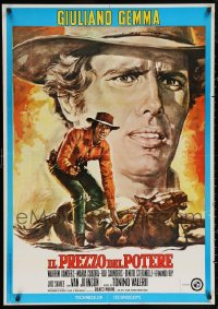 6t1057 LOT OF 37 FORMERLY FOLDED BULLET FOR THE PRESIDENT ITALIAN ONE-SHEETS 1969 spaghetti western!