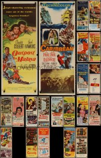 6t0961 LOT OF 21 FORMERLY FOLDED INSERTS 1950s-1960s great images from a variety of movies!