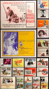 6t0991 LOT OF 35 MOSTLY UNFOLDED HALF-SHEETS 1960s great images from a variety of movies!