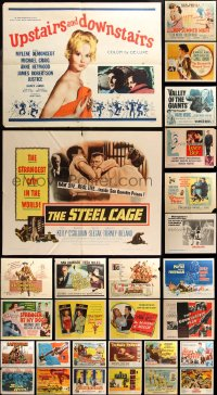 6t0993 LOT OF 28 FORMERLY FOLDED HALF-SHEETS 1940s-1970s great images from a variety of movies!