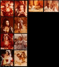 6t0830 LOT OF 18 TAMING OF THE SHREW COLOR 8X10 REPRO PHOTOS 1980s Elizabeth Taylor shown in all!