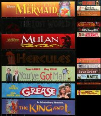 6t1040 LOT OF 28 5X25 MYLAR MARQUEES 1990s from a variety of different movie titles!