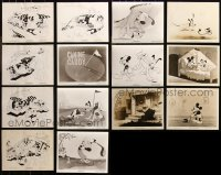 6t0807 LOT OF 14 MICKEY MOUSE UNMARKED RE-RELEASE OR RE-STRIKE 8X10 STILLS 1970s Disney cartoons!