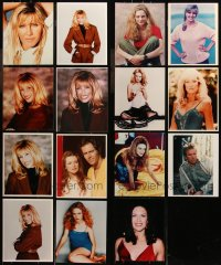 6t0832 LOT OF 15 COLOR 8X10 REPRO PHOTOS 1990s Suzanne Somers, Heather Graham & more!