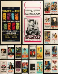 6t0944 LOT OF 26 FORMERLY FOLDED ITALIAN LOCANDINAS 1950s-1990s a variety of movie images!