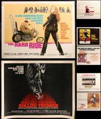 6t0999 LOT OF 9 MOSTLY UNFOLDED HALF-SHEETS 1970s great images from a variety of movies!