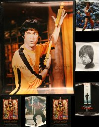 6t1049 LOT OF 10 UNFOLDED MISCELLANEOUS BRUCE LEE POSTERS 1970s-1990s great kung fu images!