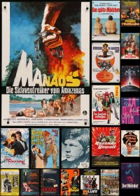 6t1055 LOT OF 23 FORMERLY FOLDED GERMAN A1 POSTERS 1960s-1980s a variety of cool movie images!