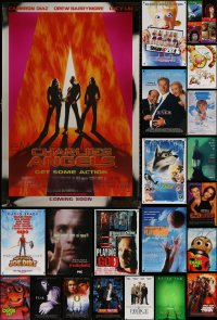6t1121 LOT OF 22 UNFOLDED MOSTLY SINGLE-SIDED MOSTLY 27X40 ONE-SHEETS 1990s-2000s cool movie images!