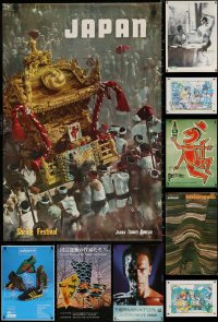 6t1046 LOT OF 15 UNFOLDED MISCELLANEOUS POSTERS 1960s-1990s a variety of cool images!