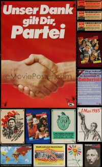 6t1054 LOT OF 15 MOSTLY UNFOLDED NON-U.S. POSTERS 1960s-2010s a variety of different images!