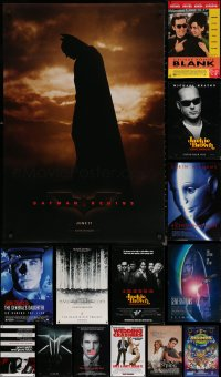 6t1142 LOT OF 18 UNFOLDED DOUBLE-SIDED MOSTLY 27X40 ONE-SHEETS 1990s-2000s cool movie images!