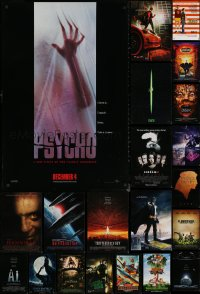 6t1129 LOT OF 21 UNFOLDED MOSTLY DOUBLE-SIDED 27X40 ONE-SHEETS 1990s-2010s cool movie images!