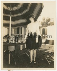 6w0165 ESTHER RALSTON 8.25x10 news photo 1928 modeling a black & white embroidered afternoon gown!