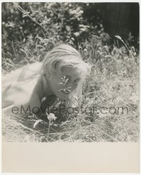6w0166 EVELINE BEY 8x10 still 1950s sexy blonde sunbathing nude in Germany by Peter Basch!