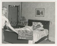 6w0172 FBI STORY 8.25x10 set reference photo 1959 bedroom set with Vera Miles shown laying in bed!