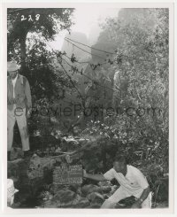 6w0173 FBI STORY 8.25x10 set reference photo 1959 S. America jungle set with James Stewart shown!