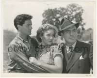 6w0178 FLOWING GOLD 8x10 still 1940 Frances Farmer between John Garfield & Pat O'Brien by Longworth!