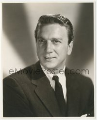6w0182 FORBIDDEN PLANET deluxe 7.75x9.5 still 1956 great portrait of Leslie Nielsen in suit & tie!