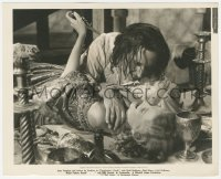 6w0187 FRENCHMAN'S CREEK deluxe 8x10 key book still 1944 Rathbone attacking Joan Fontaine on table!