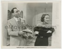 6w0188 GAMBLING LADY 8x10 still 1934 close up of sexy Barbara Stanwyck with Pat O'Brien!