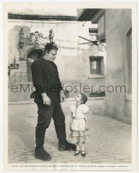 6w0190 GHOST OF FRANKENSTEIN 8x10 still 1942 monster Lon Chaney Jr. & unafraid 4 year-old girl
