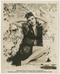 6w0195 GLORIA TALBOTT 8x10.25 still 1954 Paramount studio portrait in sexy black lace negligee!
