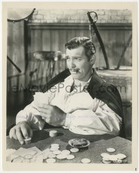 6w0198 GONE WITH THE WIND 8.25x10.25 still R1967 Clark Gable as Rhett Butler gambling at poker!