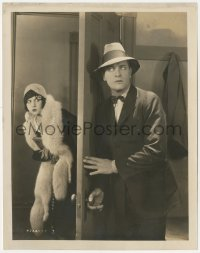 6w0199 GOOD MORNING JUDGE 8x10.25 still 1928 Reginald Denny hides from Gorothy Gulliver behind door!