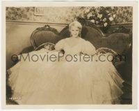 6w0200 GRACE MOORE 8x10.25 still 1930 great portrait showing her huge dress from A Lady's Morals!