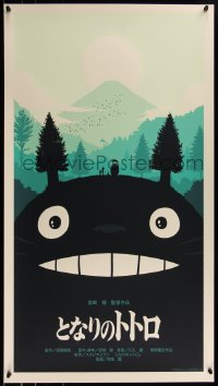 6x0020 OLLY MOSS group of 4 20x36 art prints 2011-2013 variant editions for Hayao Miyazaki movies!