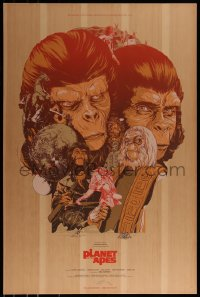 6x0034 PLANET OF THE APES #50/70 24x36 art print 2011 Mondo, art by Martin Ansin, wood edition!