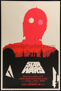 6x0005 STAR WARS group of 3 24x36 art prints 2010 Mondo, art by Olly Moss, first edition!