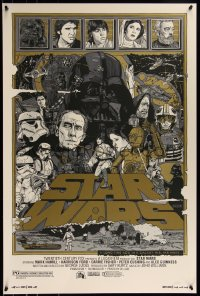 6x0003 STAR WARS group of 3 24x36 art prints 2010 Mondo, art by Tyler Stout, variant editions!