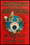 7a0118 JIMI HENDRIX EXPERIENCE/JOHN MAYALL/ALBERT KING 14x22 poster 1968 Flying Eyeball, BG-105!
