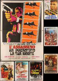 7f0002 LOT OF 7 FOLDED ITALIAN TWO-PANELS 1970s great images from a variety of movies!