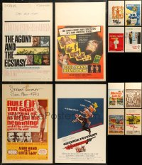 7f0021 LOT OF 12 WINDOW CARDS 1940s-1970s great images from a variety of different movies!