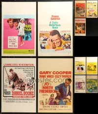 7f0022 LOT OF 11 WINDOW CARDS 1930s-1960s great images from a variety of different movies!