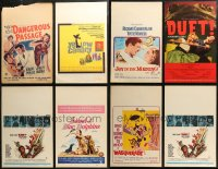 7f0019 LOT OF 16 WINDOW CARDS 1960s great images for a variety of different movies!