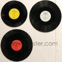 7f0030 LOT OF 3 33 1/3 RPM RADIO SPOT RECORDS 1969-1970 movie commercials, extremely rare, not sold!