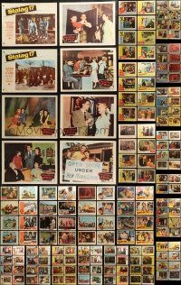 7f0243 LOT OF 212 MOSTLY 1950S LOBBY CARDS 1950s incomplete sets from a variety of different movies!