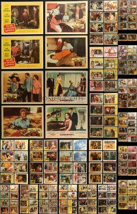7f0241 LOT OF 290 MOSTLY 1950S LOBBY CARDS 1950s incomplete sets from a variety of different movies!