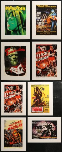 7f0026 LOT OF 9 UNFOLDED HORROR/SCI-FI 12X16 REPRODUCTION POSTERS 1990s all the best images!